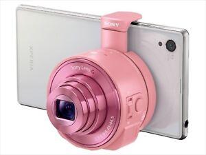 Sony-Digital-Kamera-Cyber-Shot-Objektiv-Stil-QX10-Pink-DSC-QX10-P-F-S-Japan