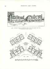 1905 Welbeck Abbey New Loggia Central Bay Workman's Cottage Letchworth