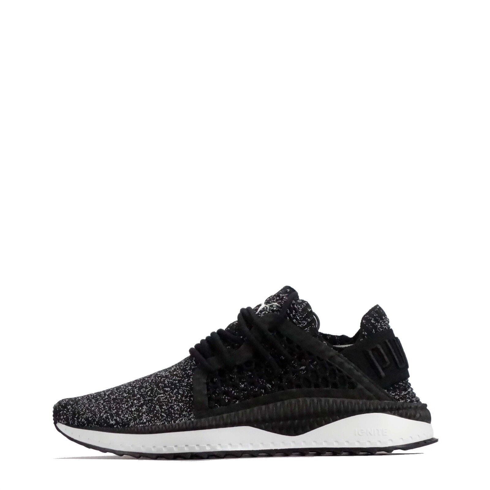 Puma Tsugi Netfit Evoknit Men's Running Style Lace Up Shoes in Black/White