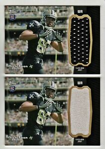 Details about NICK TOON (2) LOT GU Jersey RC 2012 Topps Rookie Jumbo Relic Saints Wisconsin (1