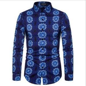 Luxury-Men-039-s-Shirts-Slim-Fit-Long-Sleeve-Casual-Dress-Shirts-New-T-Shirts-Tops