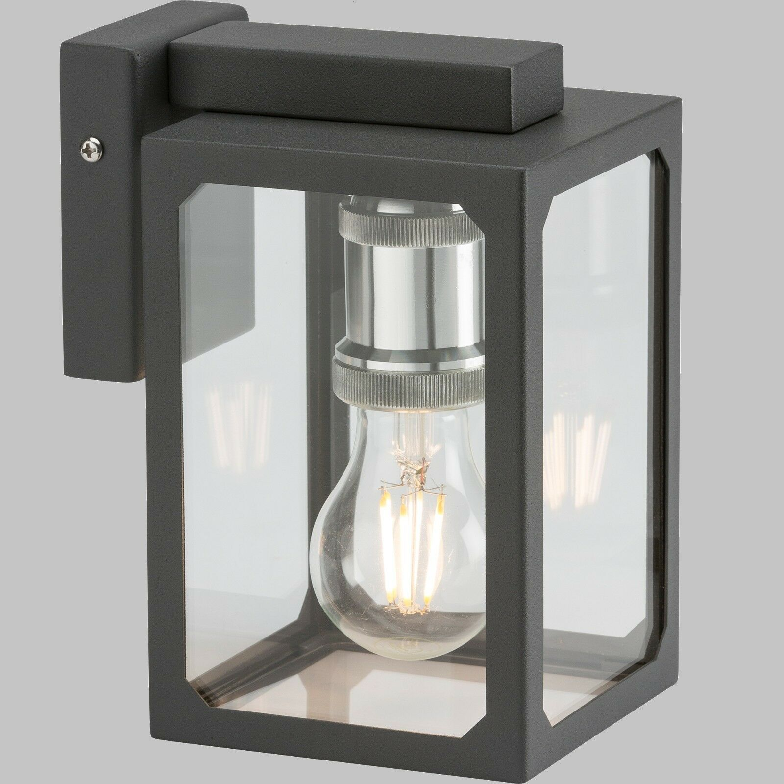 Modern Modern Modern Classic Wall Lantern- Anthracite with LED bulb included as shown dda3f4