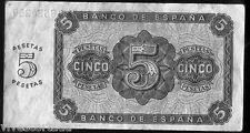 5 Pesetas 10 de Agosto de 1938 Burgos @ Muy Bello @