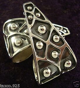 TAXCO-MEXICAN-STERLING-SILVER-BEADED-BEAD-EARRINGS-MEXICO