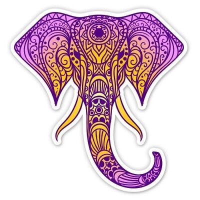 Elephant Henna Red Car Vinyl Sticker SELECT SIZE