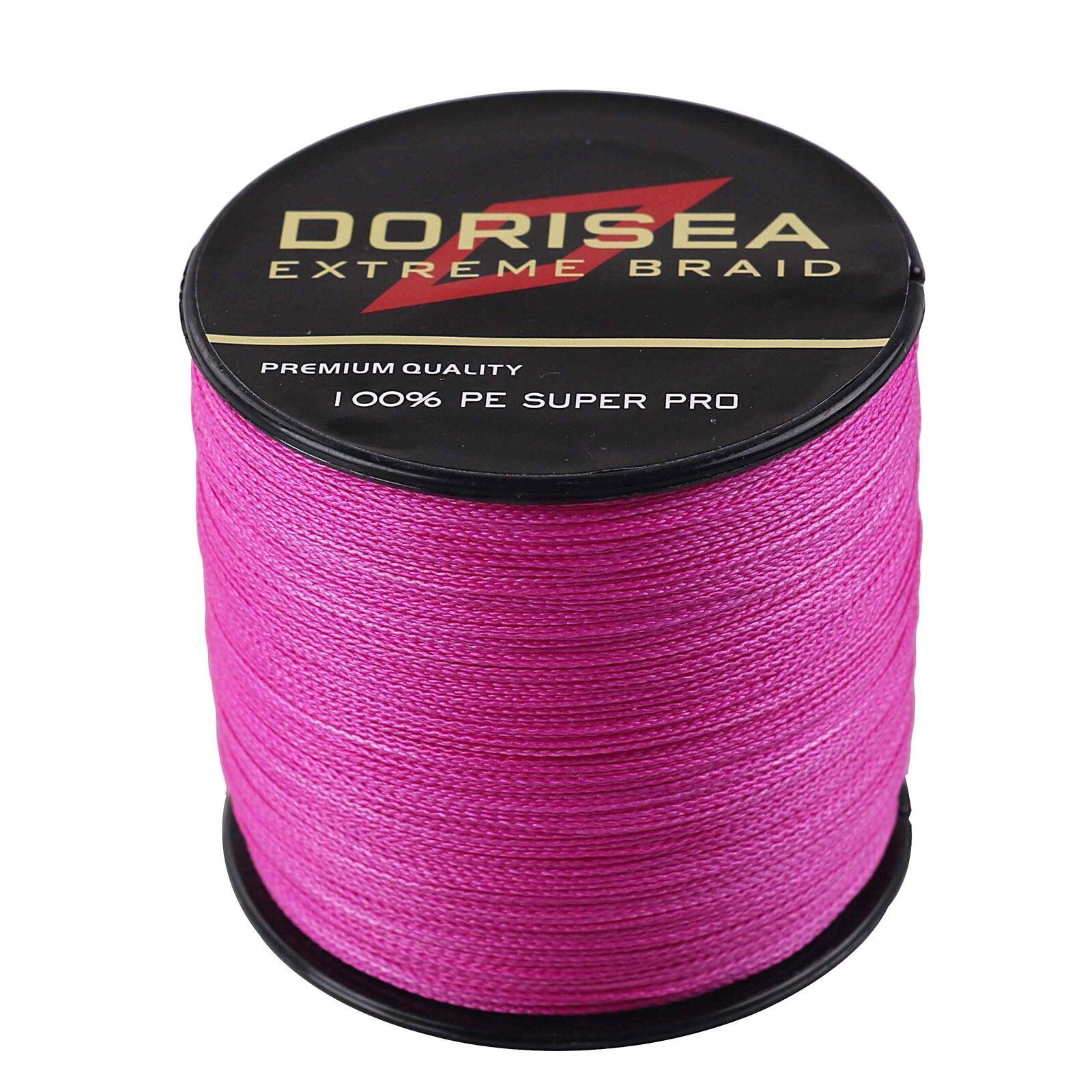 Pink Braided Line 100m-1000m Power PE Dyneema  Dorisea Braid Fishing Line  hastened to see