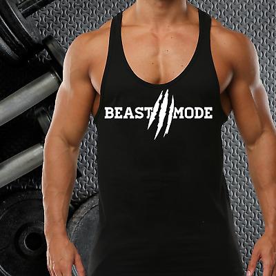 RKB Mens Gym Vest Racerback Bodybuilding Muscle Stringer Plain Tank Top Fitness