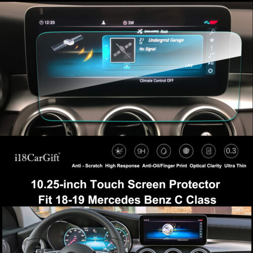 2018-2019 Mercedes Benz C Class Tempered Glass Screen Protector by i18CarGift