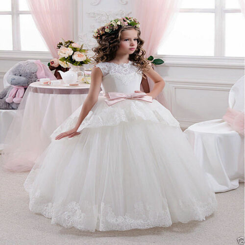 NEW Communion Party Prom Princess Pageant Bridesmaid Wedding Flower Girl Dress/&
