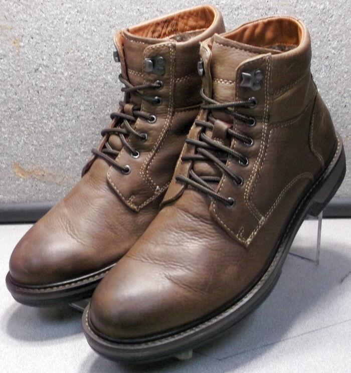 253080 PFBT40 Men's shoes Size 11 M Brown Leather Lace Boots Johnston & Murphy