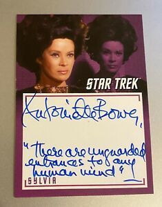 STAR-TREK-TOS-CAPTAINS-COLLECTION-A10-ANTOINETTE-BOWER-INSCRIPTION-AUTOGRAPH
