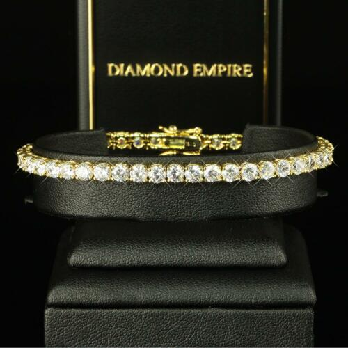 Damen Armband 19 cm Zirkonia weiss Echt 750er Gold vergoldet B1029-1