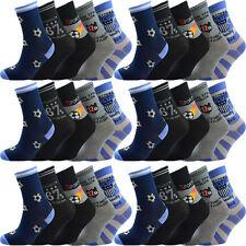 10 Paar Kinder Jungen Socken Größe 32 33 34 35 36 37 38 39 Fussball Fußball
