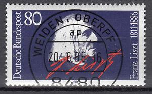 BRD 1986 Mi. Nr. 1285 gestempelt WEIDEN OBERPF 1 , mit Gummi TOP! (16989) - Beckum, Deutschland - BRD 1986 Mi. Nr. 1285 gestempelt WEIDEN OBERPF 1 , mit Gummi TOP! (16989) - Beckum, Deutschland