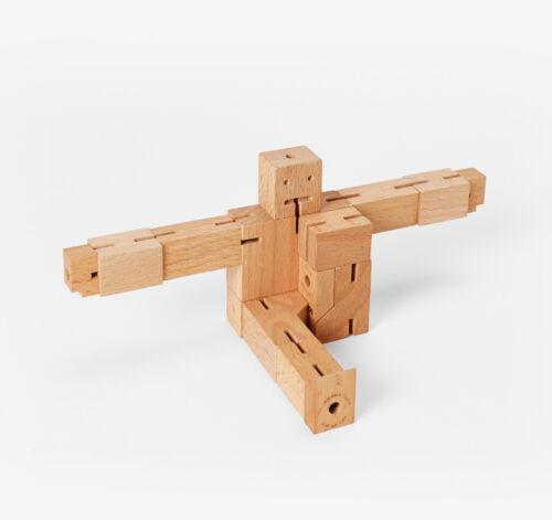 Natürlich Buchenholz Areaware Cubebot Mikro Holz Spielzeug Puzzle DWC4 Sonstige