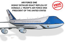 """AIR FORCE ONE Donald J. TRUMP President 747 VC-25A BOEING Airplane 18"""" Model AF1"""