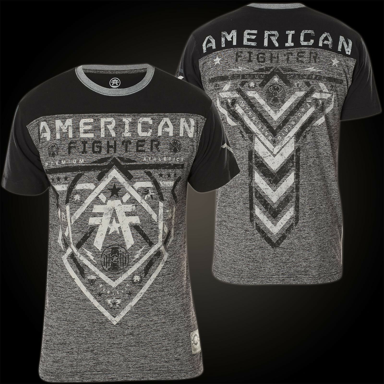AMERICAN FIGHTER Affliction T-Shirt Hartwell Grau/Schwarz T-Shirts