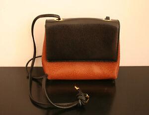917a5298b4ba2 Das Bild wird geladen Cosci-Tasche-suesse-Vintage-Handtasche-Leder-braun- schwarz-