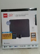 RCA ANT1100Z Ultra-Thin Multi-Directional Indoor HDTV Antenna with 40 Mile Range,Black//White