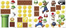 Super MARIO Brothers Build a Scene wall stickers 45 decals Nintendo decor Luigi
