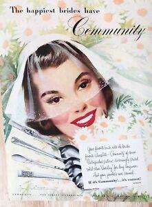 Original 1949 Print Ad COMMUNITY Silverplate Jon Whitcomb ...