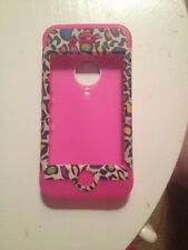 Rainbow Leopard Hard/ Silicone Case Pink Iphone 4/4S