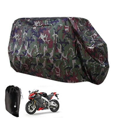 SurePromise Waterproof Motorcycle Cover Motorbike Bike Scooter Breathable Protector with Storage Bag Large Red Black
