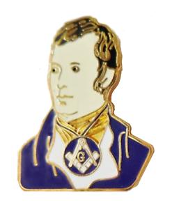 Robert Robbie Burns Cut Out Freemasonry Masonic Pin Badge