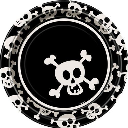 SKULLS Pirate PARTY Party Range AMSCAN//UNIQUE Kids//Birthday//Napkins//Plates//Cups