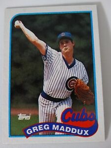 Details About 1989 Topps Greg Maddux Chicago Cubs Wrong Back Error Baseball Card