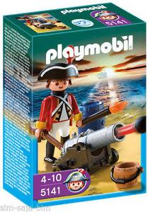 Playmobil-5141-Artillero-Ingles-Casaca-Roja-Piratas-Pirates