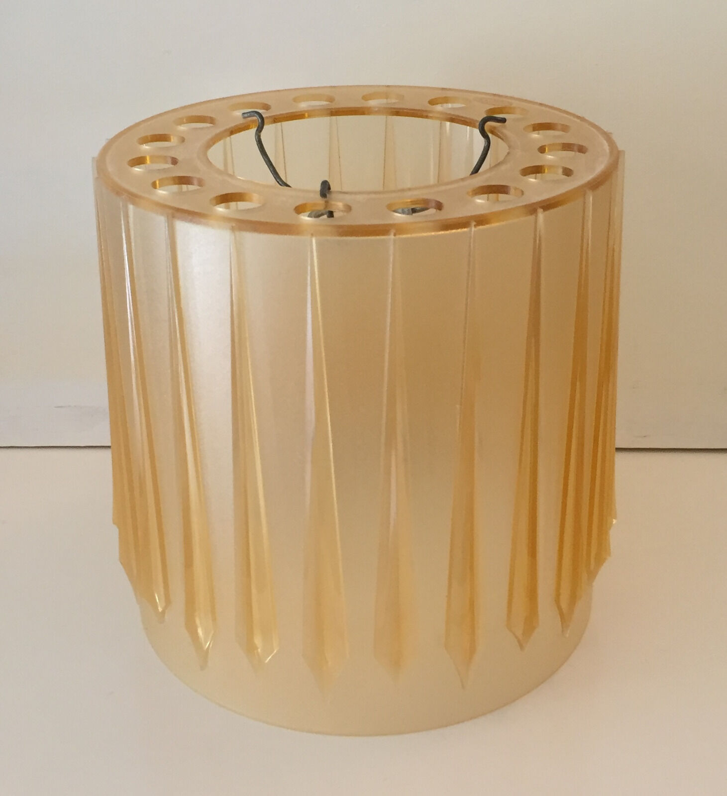 1960's vintage original lampshade, cylinder shape retro ceiling wall light shade