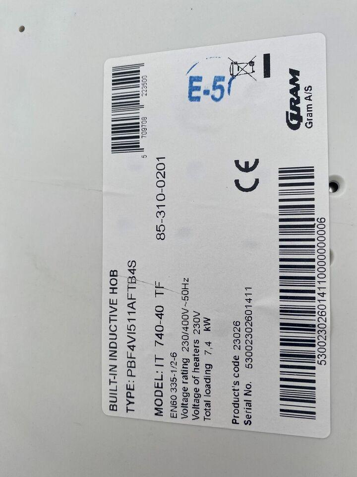 Induktionskogeplade, Gram IT 740-40 TF, b: 77 d: 52 h: 5