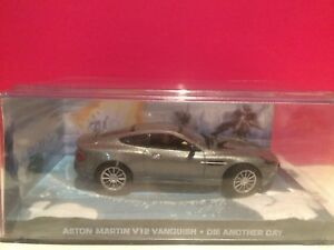 007 Superbe Aston Martin V12 Vanquish Die Another Day 1/43 Boite Sous Blister S3 Blanc Pur Et Translucide