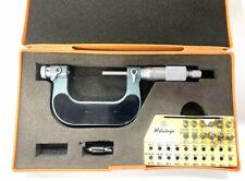Mitutoyo 126 902 Screw Thread Micrometer With Interchangeable Tips 1 2 Range