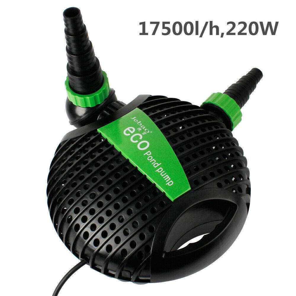 ECO Teichpumpe Teichfilter 17500L H 220W Wasserpumpe Gartenpumpe Förderhöhe. 6m