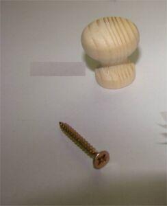 1x-Knopf-aus-Holz-Fichte-ROH-Durchmesser-25mm-Gesamthoehe-28mm-1x-Schraube