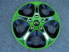 "4 Alu-Design Radkappen 14 Zoll ""Enfinity green/black"" RS Modell 2015"