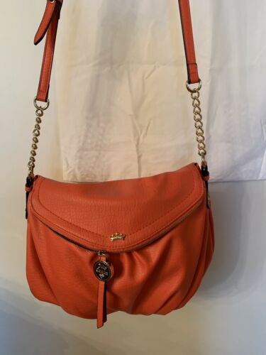 Juicy Couture Crossbody Purce Coral Color With Gol