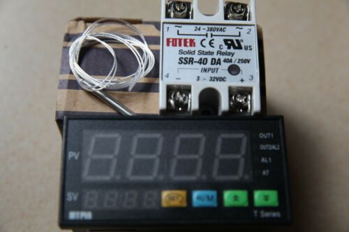 PT100+40A SSR DA 90-265V F//C PID Temperature Controller Thermostat TA8-SNR