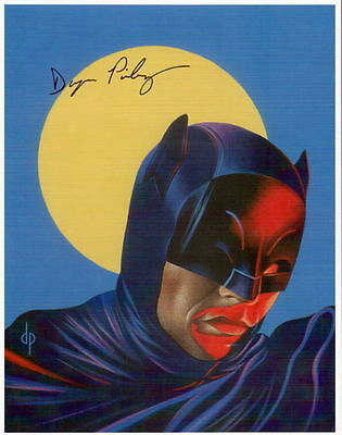 Adam West BATMAN PRINT HAND SIGNED Dwayne Pinkney Shadowland Magazine Cover