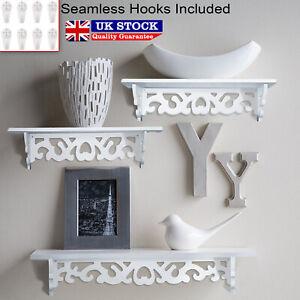 3Pcs-White-Wooden-Wall-Mounted-Shelf-Display-Hanging-Rack-Storage-Holder-Decor