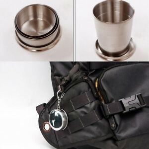 75ML-Mini-Stainless-Steel-Portable-Collapsible-Cup-Telescopic-Folded-Cup-Keyring
