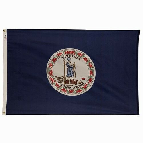 5X8 Poly Virginia State Flag 5X8 Virginia State Banner 5X8 VA State Flag US Made