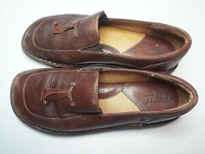 Born-Brown-Leather-Loafer-Slip-On-Shoes-Womens-Size-8-5-M