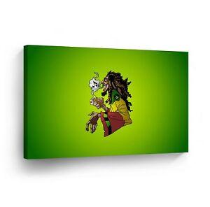 SMOKE WEED WALL ART Marijuana Leaf Plant Weed Get High Canvas Print Home Decor