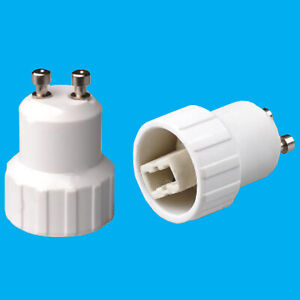 4x GU10 zu GU10 Glühbirne Lampe Adapter Konverter Halter 52mm Buchse Extender