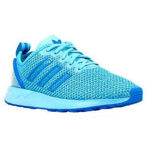 10df0997cdac3 Adidas Originals ZX Flux ADV Kids Unisex Trainers Blue Glo New In ...
