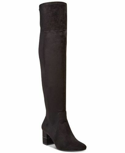 Alfani Women's Size 7M Step 'N Flex Novaa Over-The-Knee Boots Black Side Zipper