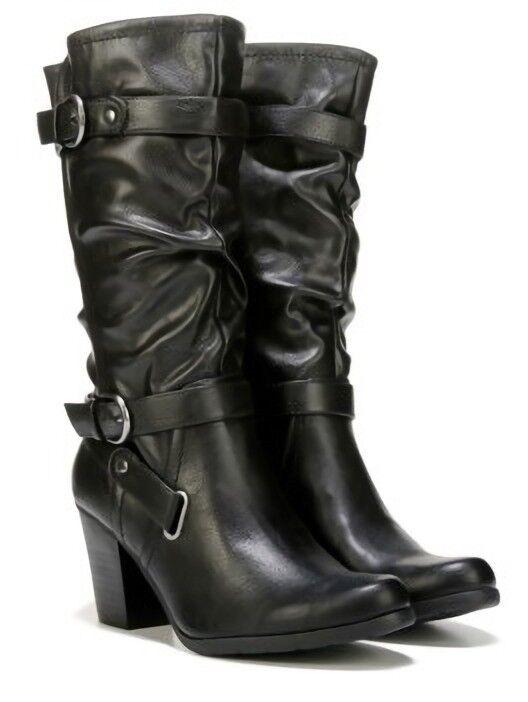 blanco Mountain Gavin Mitad de Pantorrilla botas Moto Caballo botas Negro MED Nuevo